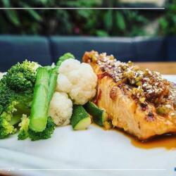Salut Bar And Grill Marinated Salmon Fillet