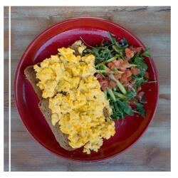 Salut Bar And Grill Scrambled Eggs With Cheddar Cheese